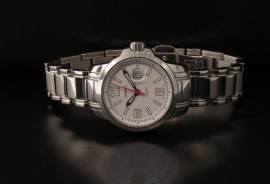 Ladies Stn Dive Watch White Face