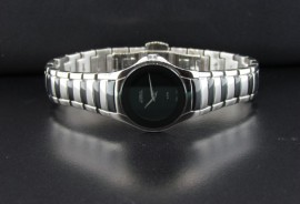 Ladies Movado Style Watch with Black Detailing