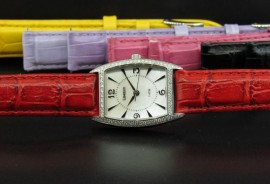 Ladies Stainless Steel Diamond Watch w/ 5 Straps