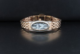 Ladies Rose Gold Plated Diamond Watch